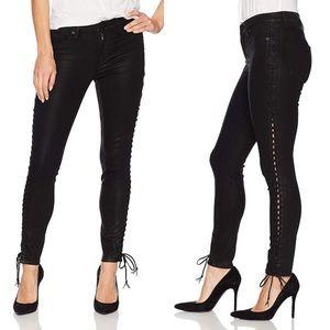 Hudson Stevie Side Lace Up Skinny Jeans Sz 24 NWT